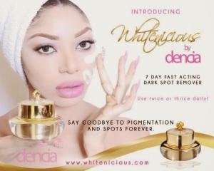 Dencia's Whitenicious skin bleaching cream.