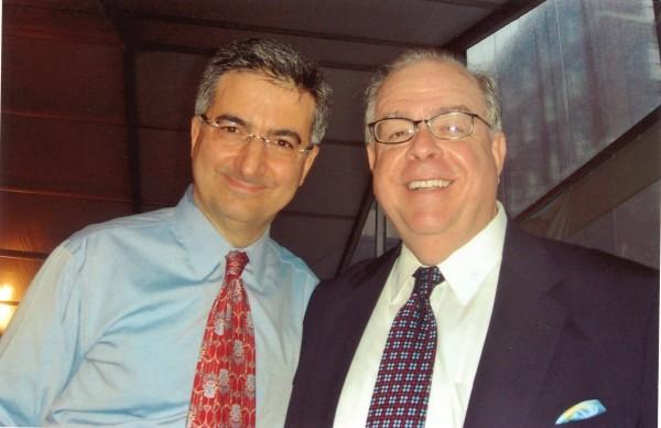 Dr. Robert Klitzman with Bob Whiteman in 2013
